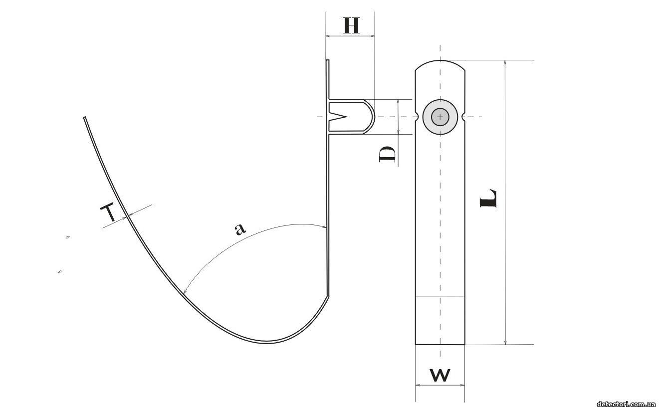 Кнопочный пружинный фиксатор одинарный под отверстие 5мм