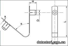 Пружинный фиксатор для весел, штанг металлоискателей и т.д.